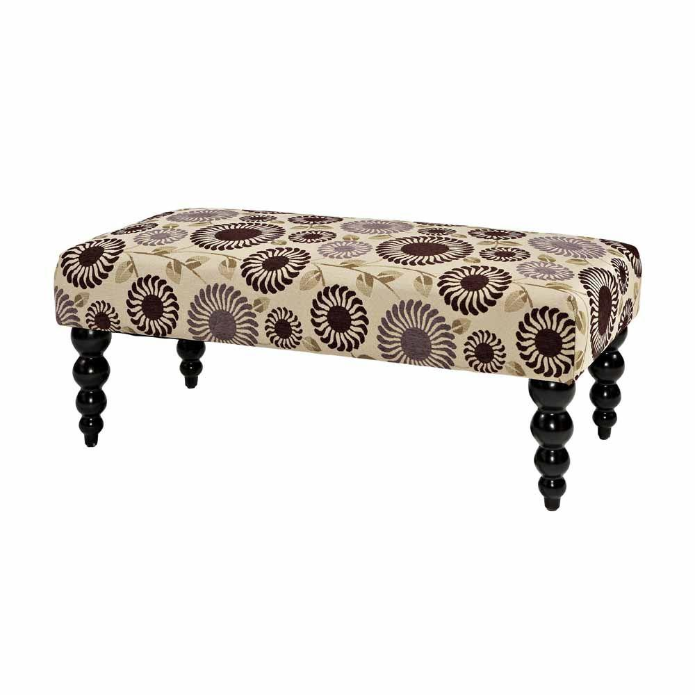 Home Decorators Collection Claire Accent Bench in Purple Floral