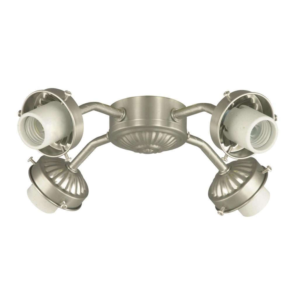 Illumine 4-Light Satin Nickel Ceiling Fan Light Kit