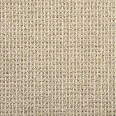 Shenadoah Stripe Flax/Ivory Custom Area Rug with Pad