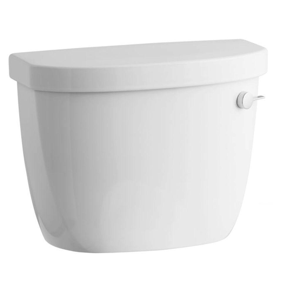 KOHLER Cimarron 1.28 GPF Single Flush High Efficiency Toilet Tank Only with AquaPiston Flushing Technology in White