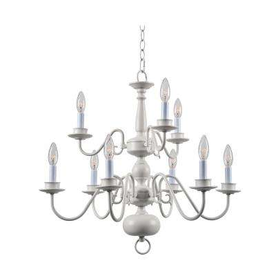 Williams 9-Light White Chandelier