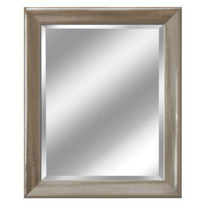 27.5 in. x 33.5 in. Transitional Mirror in Brush Nickel