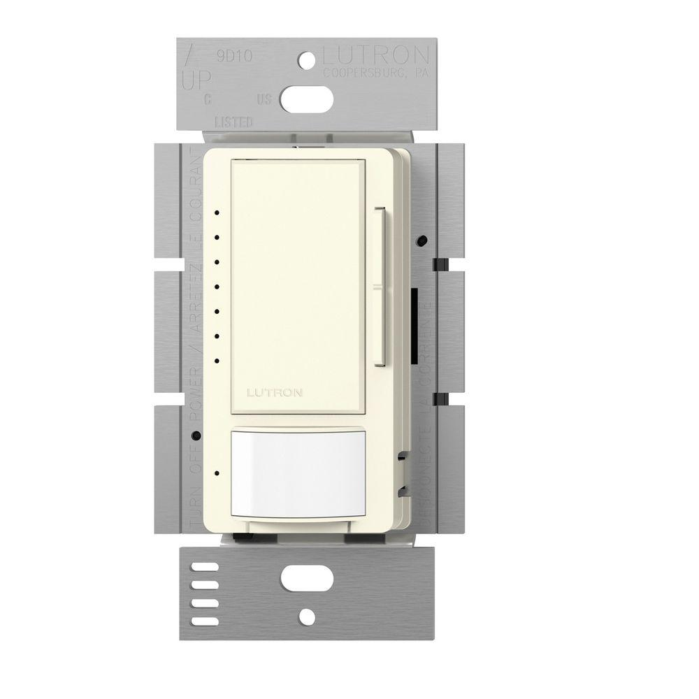 Lutron Maestro C.L Dimmer and Motion Sensor, Single Pole and Multi-Location, Biscuit