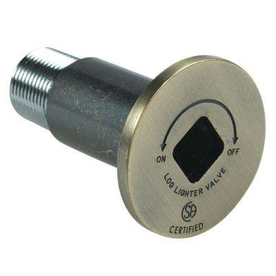 Decor Gas Valve Flange with Bushing in Antique Brass