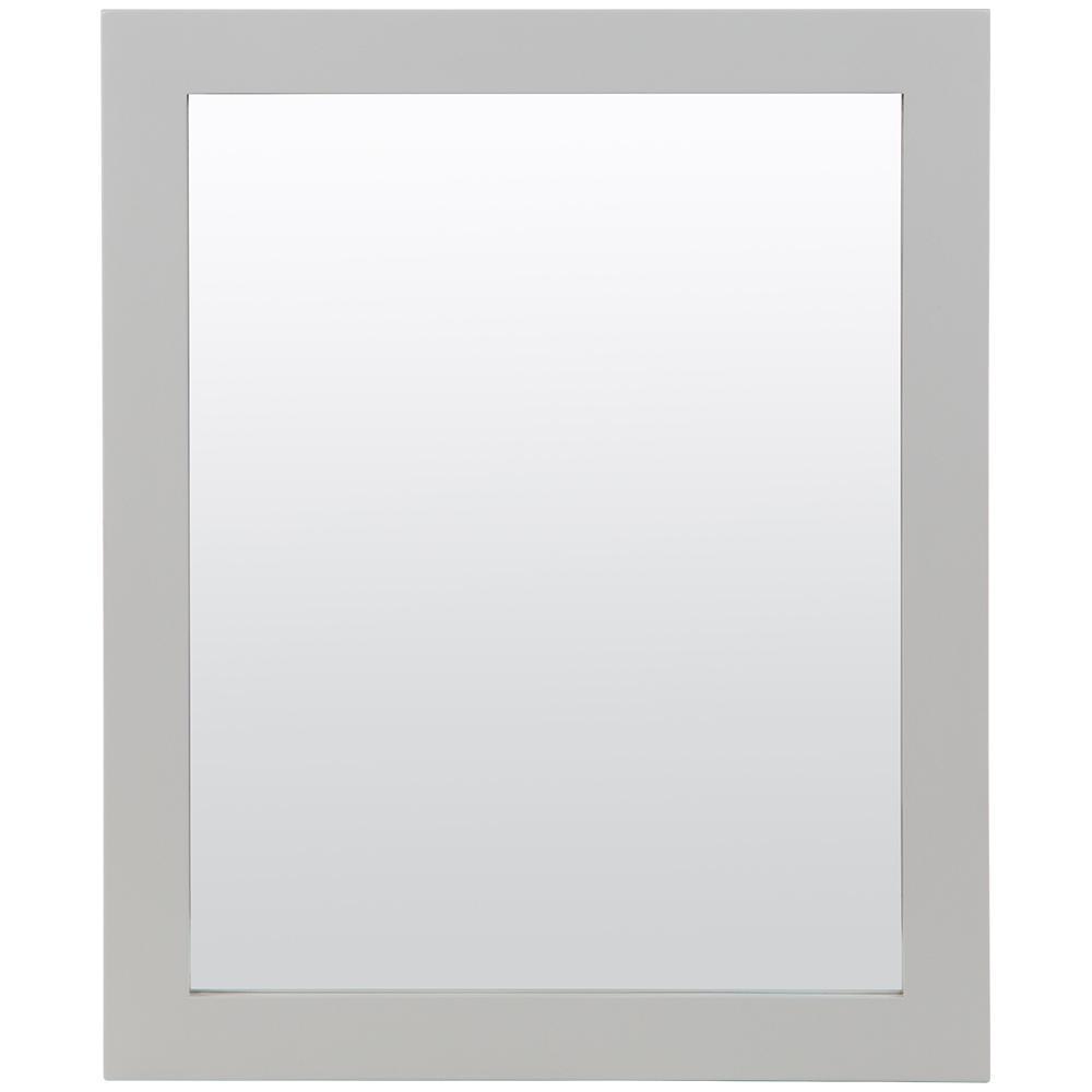 25.67 in. W x 31.38 in. H Framed Wall Mirror in Light Gray
