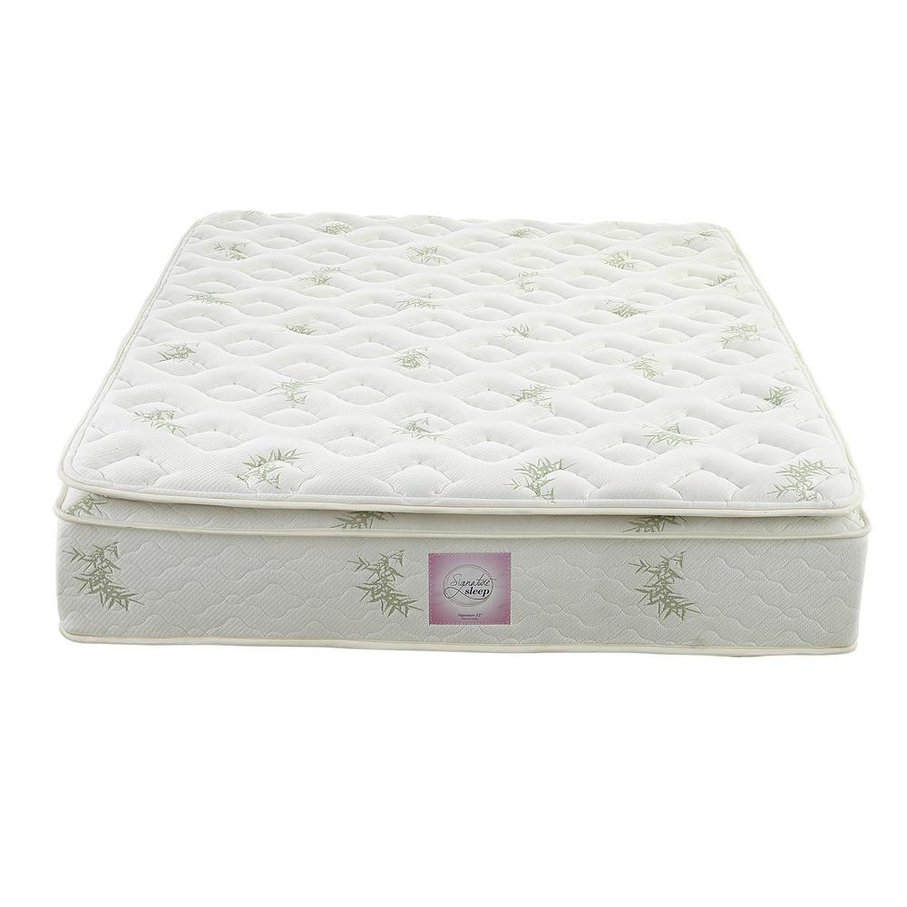 Signature Sleep Oasis Queen Size 13 In Independently Encased Coil Pillow Top Mattress With Certipur
