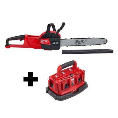 M18 FUEL 18-Volt Lithium-Ion Brushless Cordless 16 in. Chainsaw with M18 6-Port Sequential Battery Charger