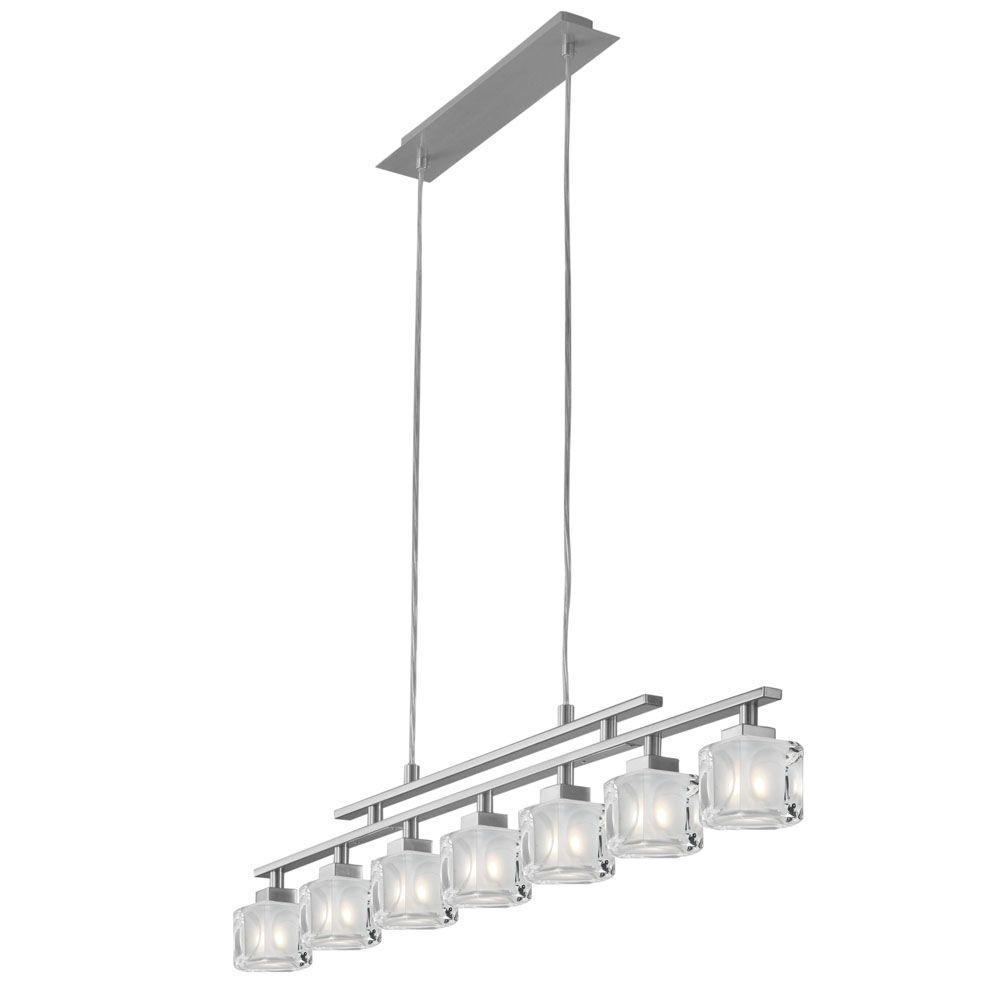 Eglo Tanga 7-Light Matte Nickel Linear Chandelier