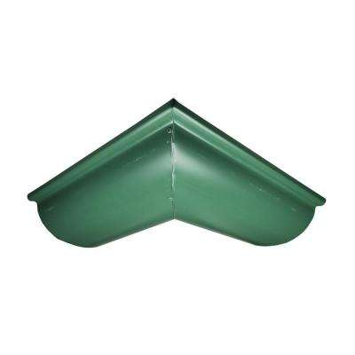 6 in. Half Round Forest Green Aluminum Outside Miter