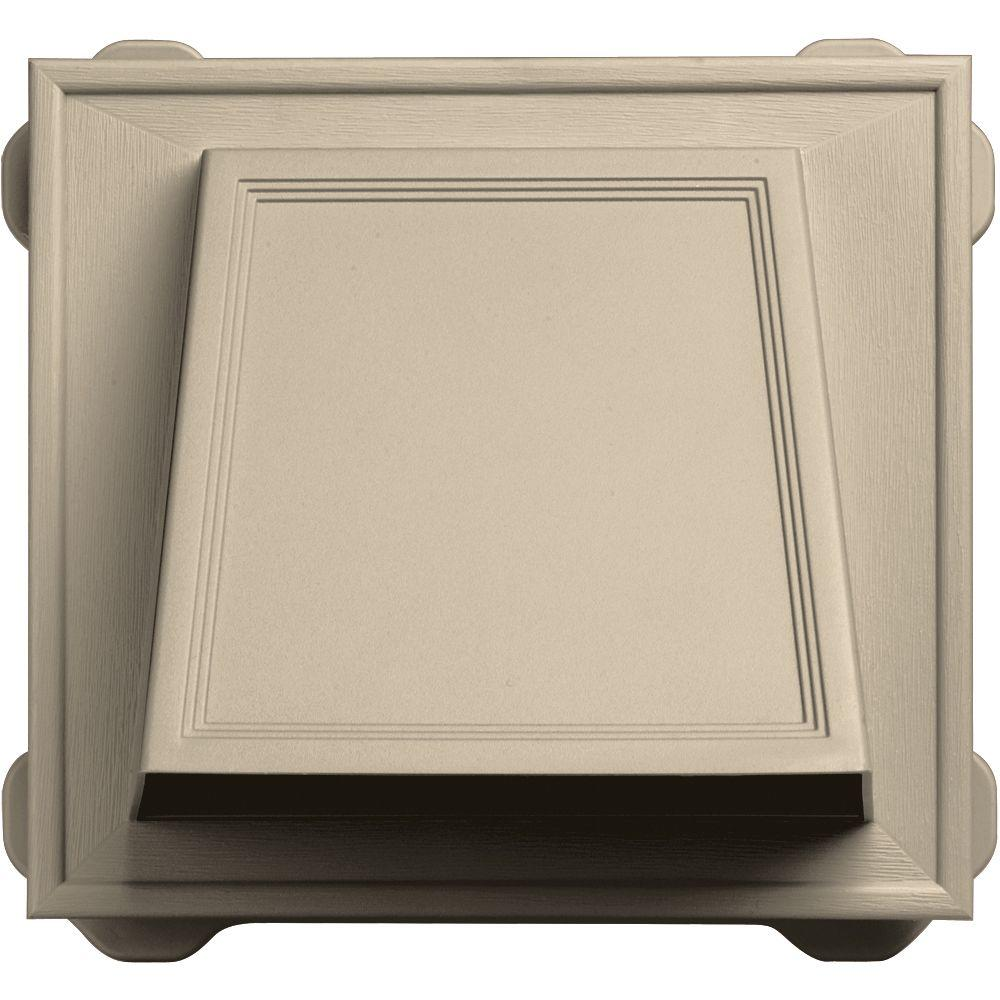 Builders Edge 6 in. Hooded Siding Vent #049-Almond