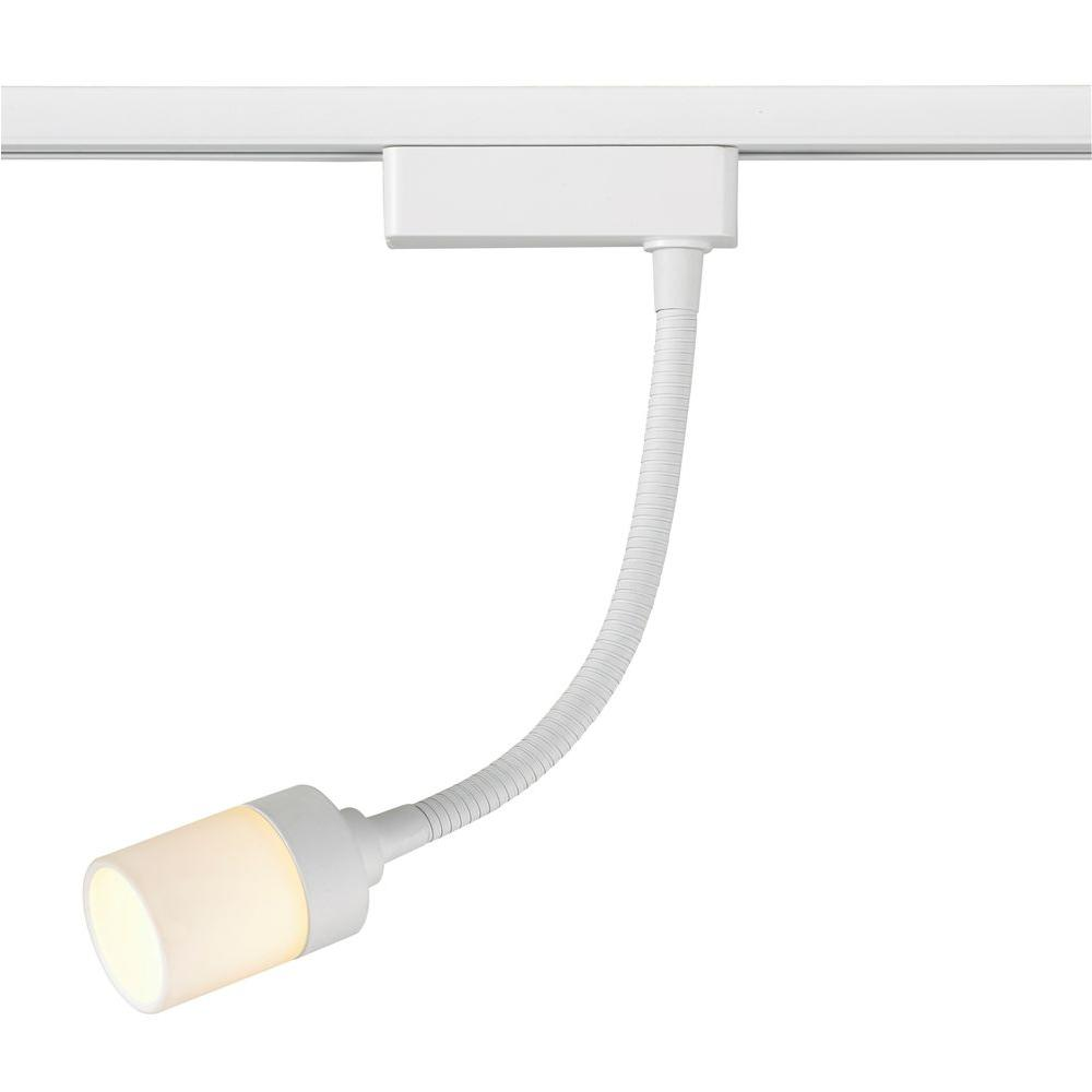 Commercial electric led white gooseneck linear track lighting head commercial electric led white gooseneck linear track lighting head aloadofball Images