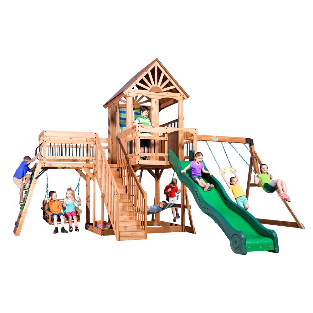 Beau Backyard Discovery Caribbean All Cedar Playset