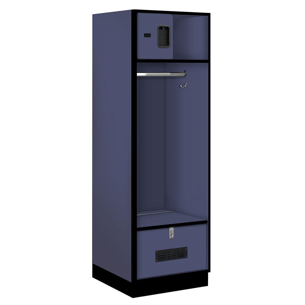 30000 Series 24 in. W x 76 in. H x 24 in. D Open Access Designer Wood Locker in Blue