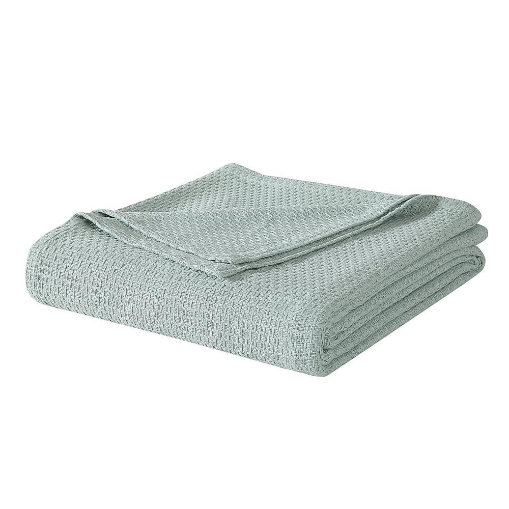 Sage Cotton Queen Blanket