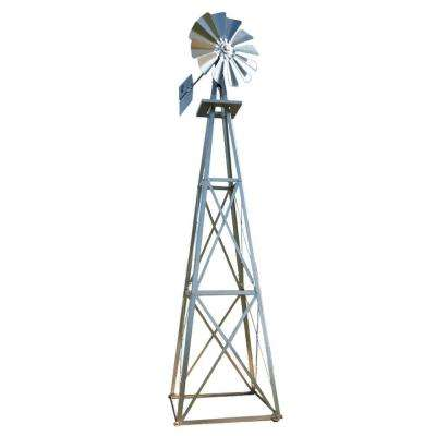 Large Galvanized Backyard Windmill