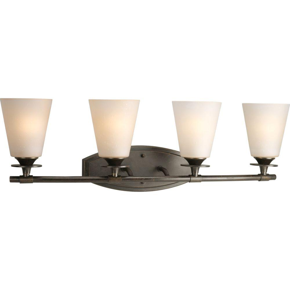 Progress Lighting Cantata Collection 4-Light Forged Bronze Vanity Fixture