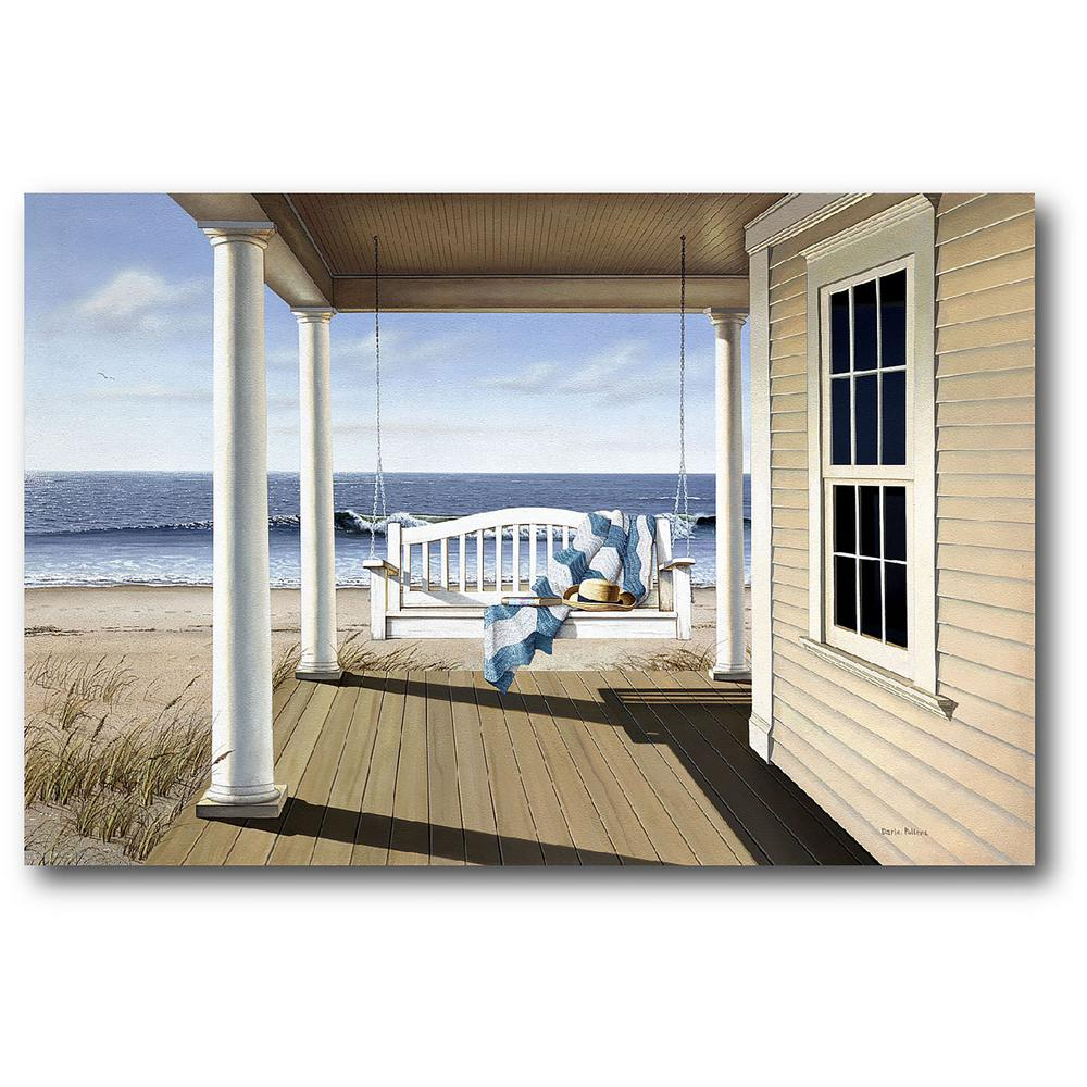 Courtside Market Porch Gallery Wrapped Canvas Wall Art 36 In X 24 In Pol220 24x36 The Home Depot