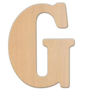 Jeff McWilliams Designs 23 in. Oversized Unfinished Wood Letter (G