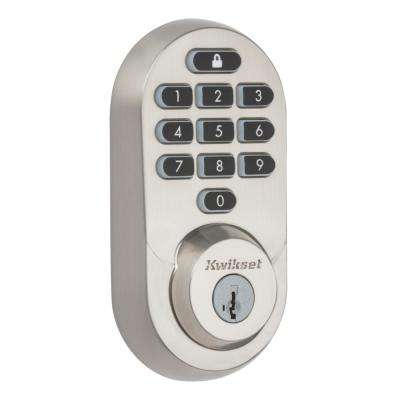 HALO Satin Nickel Keypad Wi-Fi Electronic Single-Cylinder Smart Lock Deadbolt featuring SmartKey Security