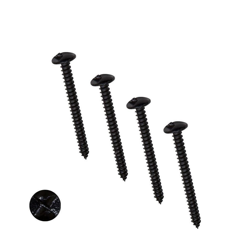 3 in. Black One-Way Screws (4-Pack)