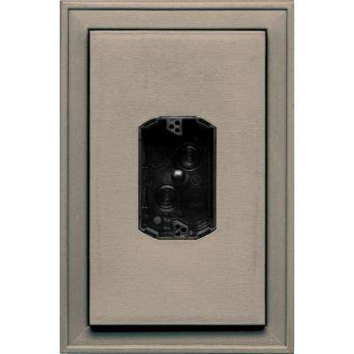 8.125 in. x 12 in. #097 Clay Jumbo Electrical Mounting Block Centered