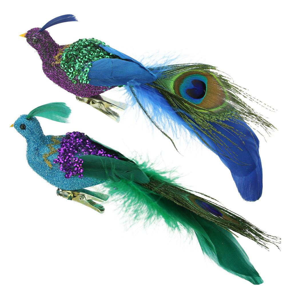 Northlight 8 in. Regal Peacock Blue Purple and Green ...