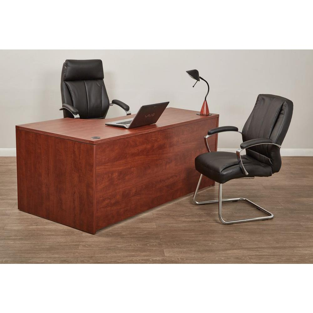Black Bonded Leather Visitor Office Chair