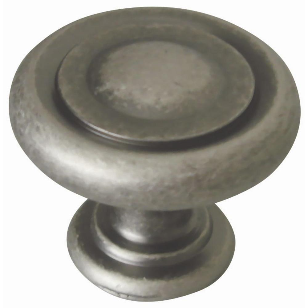 Rustic Kitchen Cabinet Hardware: Design House Town 1-1/4 In. Rustic Pewter Round Cabinet