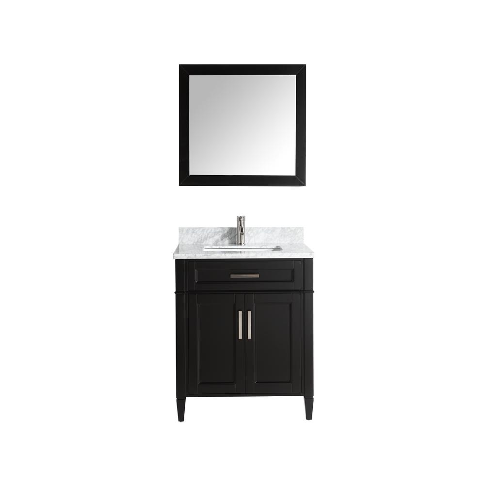 Vanity Art Savona 30 in. W x 22 in. D x 36 in. H Bath Vanity in Espresso with Vanity Top in White with White Basin and Mirror