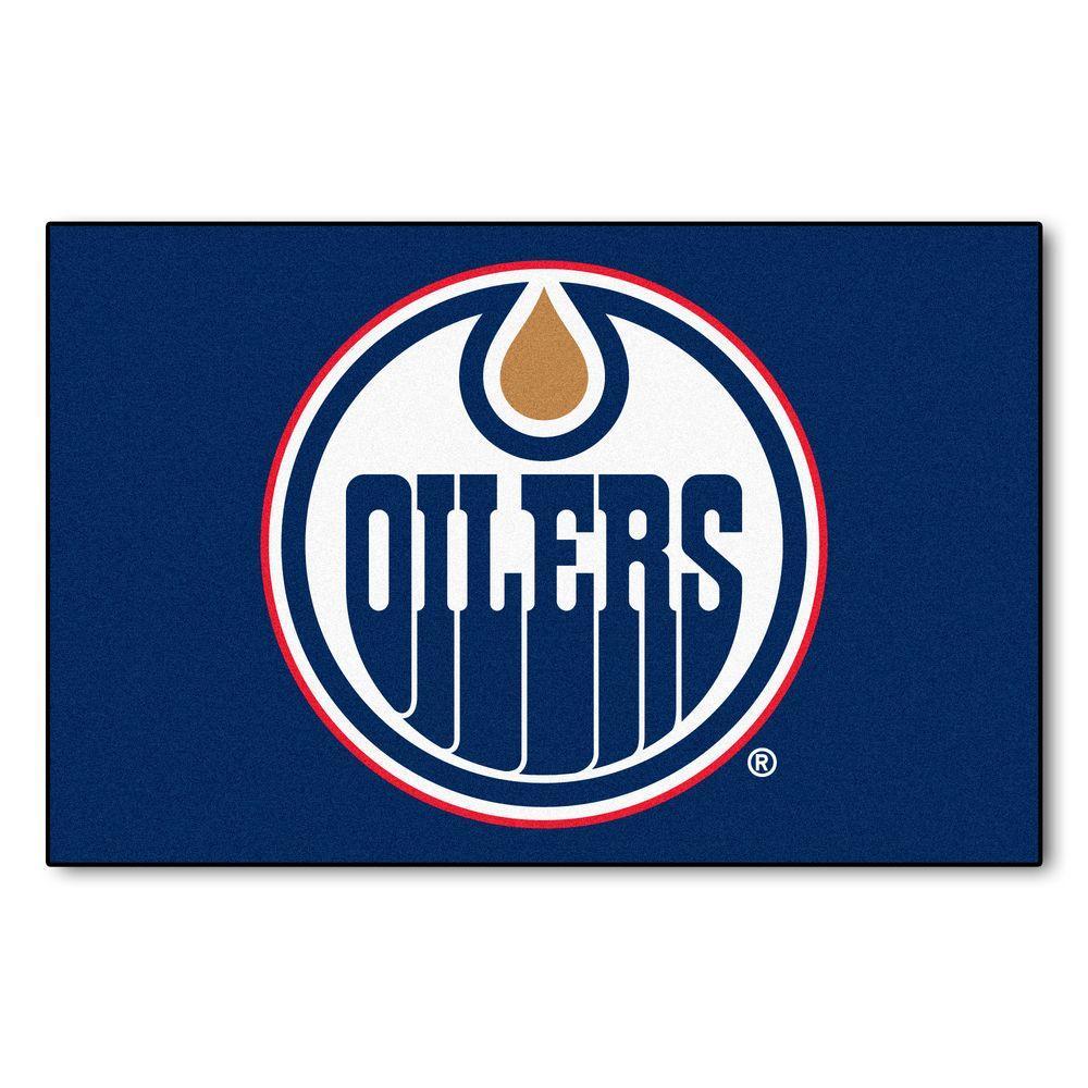 NHL Edmonton Oilers Navy 1 ft. 7 in. x 2 ft. 6 in. Rectangular Area Rug