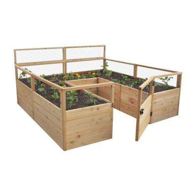 8 ft. x 8 ft. Cedar Raised Garden Bed