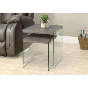 Dark Taupe 2 Piece Nesting End Table. Monarch Specialties ...