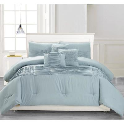 Geonna 6-Piece Ether-Blue King Comforter Set