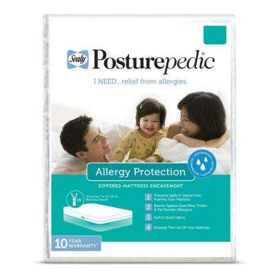 Allergy Protection Waterproof Zippered Mattress Protector, Full