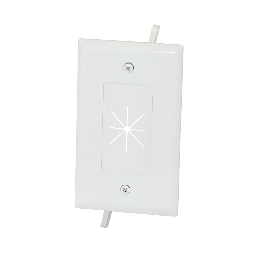 Commercial Electric Flexible Opening Cable Wall Plate