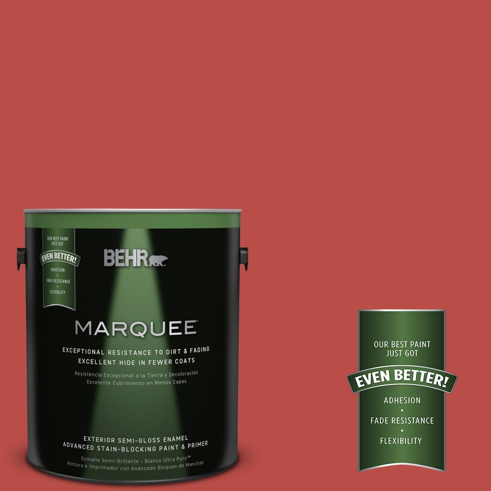 BEHR MARQUEE Home Decorators Collection 1-gal. #HDC-MD-16 Cherry Red Semi-Gloss Enamel Exterior Paint