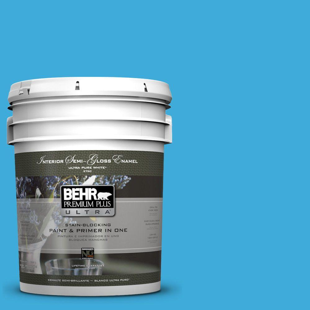 BEHR Premium Plus Ultra 5-gal. #550B-5 Windjammer Semi-Gloss Enamel Interior Paint