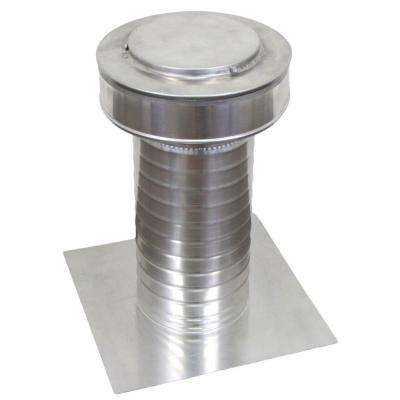 6 in. x 15 in. Aluminum Flat Roof Exhaust Static Vent in Mill Finish