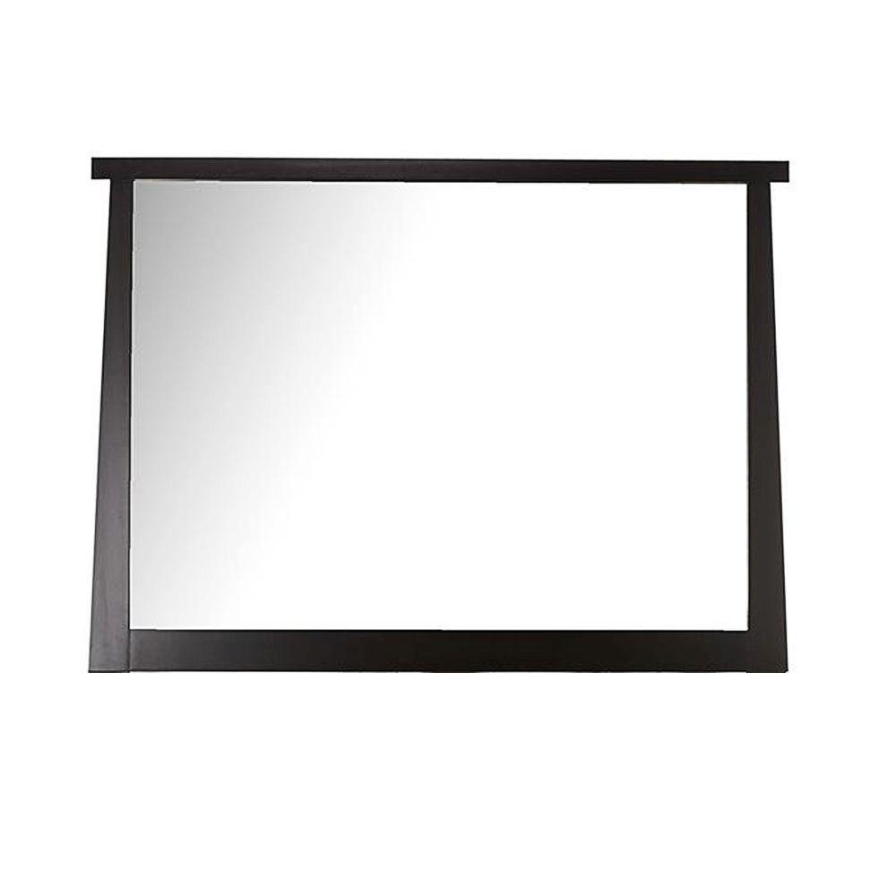 Home Decorators Collection Zen 36 in. L x 50 in. W Wall Mirror in Merlot