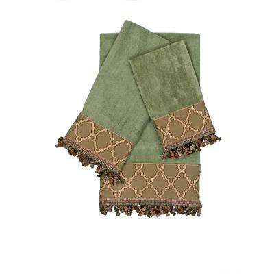 Somerset Sage Decorative Embellished Towel Set (3-Piece)