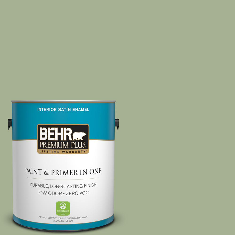 1 gal. #PPU11-06 Willow Grove Zero VOC Satin Enamel Interior Paint