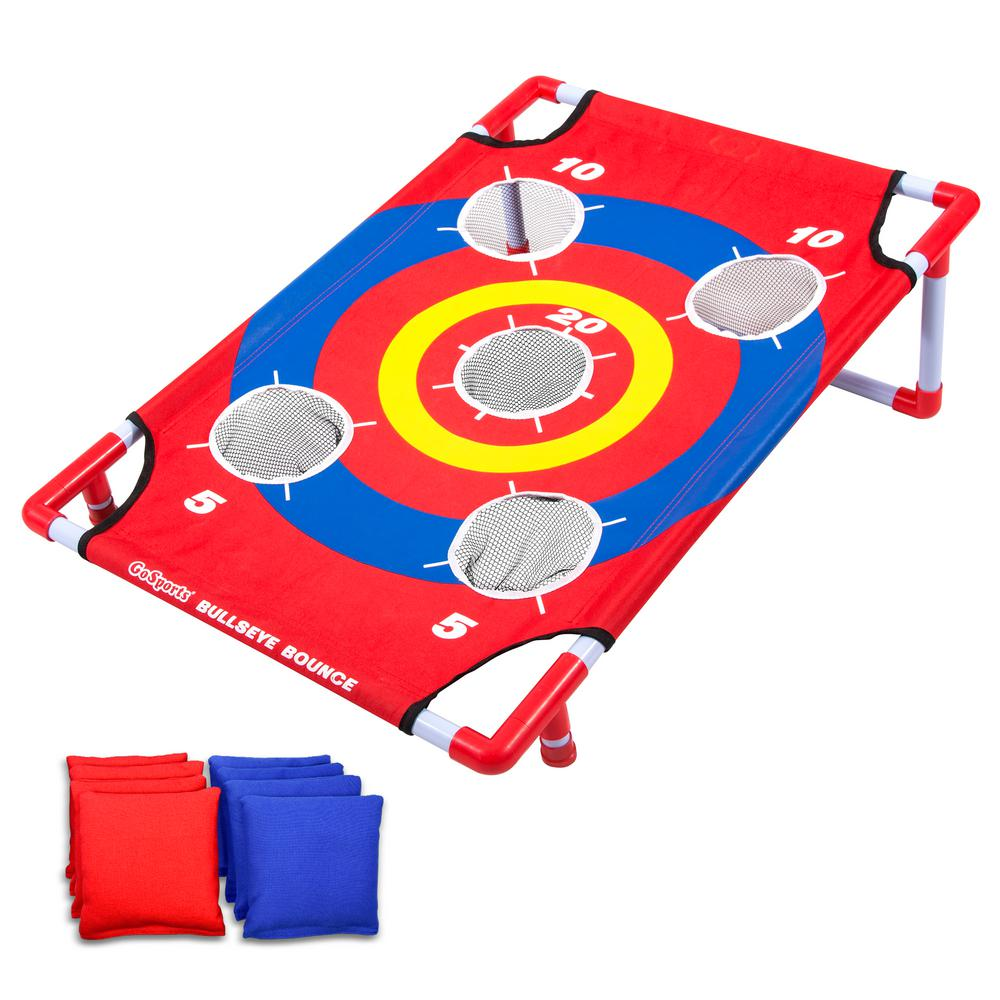 GoFloats Bullseye Bounce Cornhole Toss Game - Great for All Ages and Includes Fun Rules