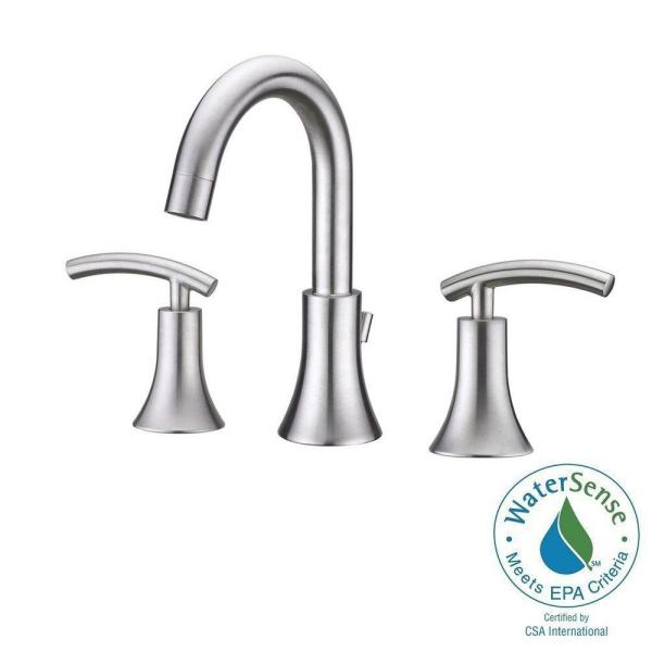 Ultra Faucets UF55313 Brushed Nickel Contemporary Lavatory Widespread Faucet