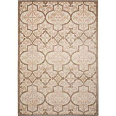 Aloha Cream 5 ft. x 7 ft. Indoor/Outdoor Area Rug