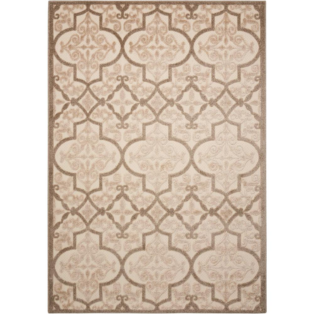 Indoor Outdoor Rugs Home Depot: Nourison Aloha Cream 9 Ft. 6 In. X 13 Ft. Indoor/Outdoor