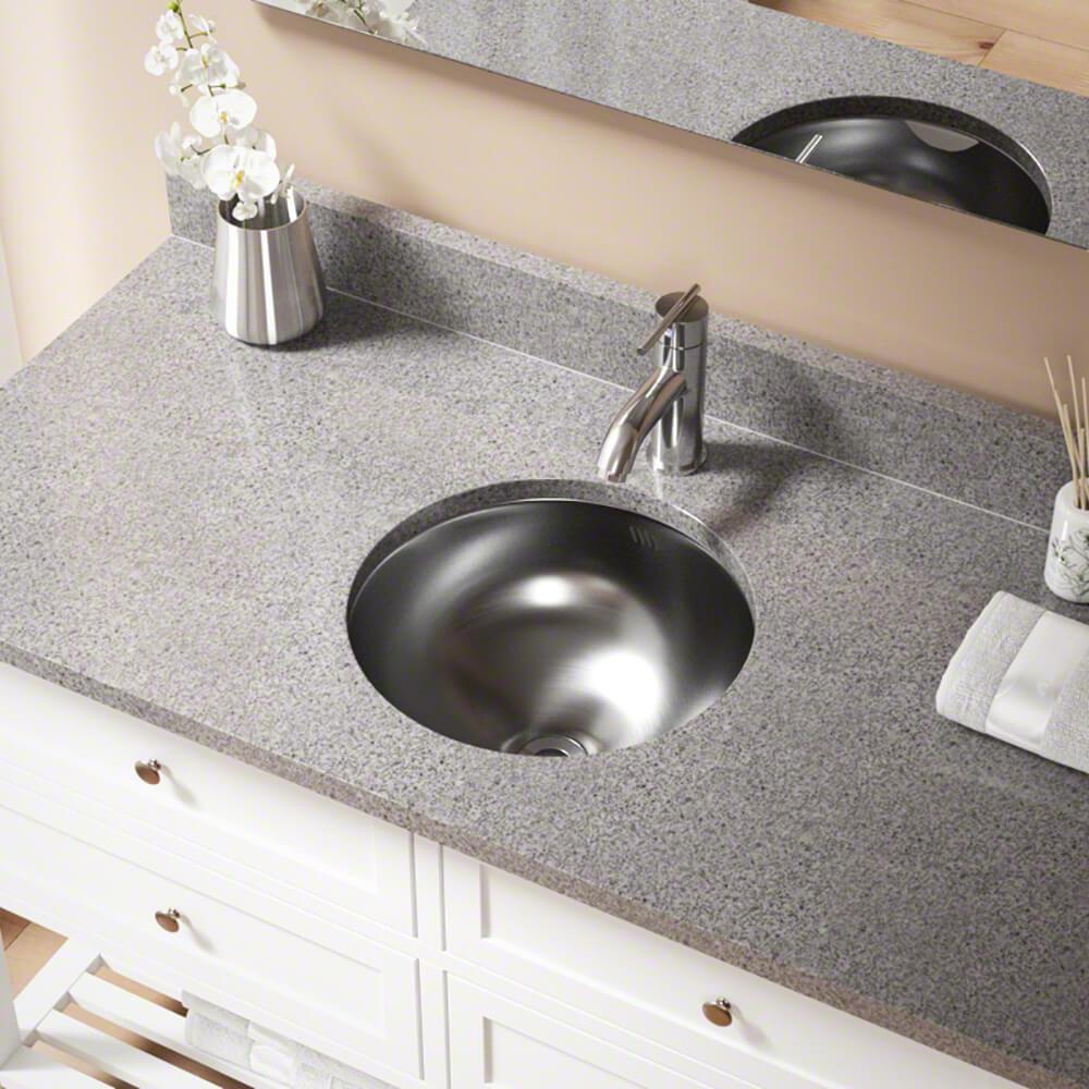 Dual-Mount Bathroom Sink in Stainless Steel