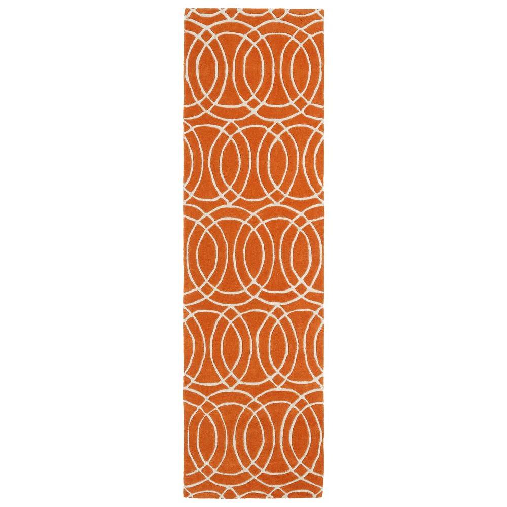 Kaleen Revolution Orange 2 ft. 3 in. x 8 ft. Runner