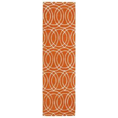 Revolution Orange 2 ft. x 8 ft. Runner Rug