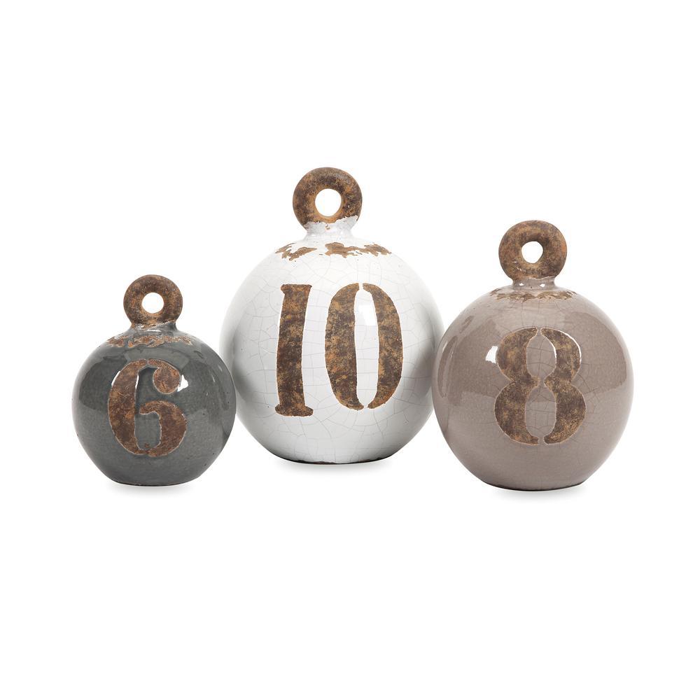 Hotham Brown Ceramic Weights (3-Pack)