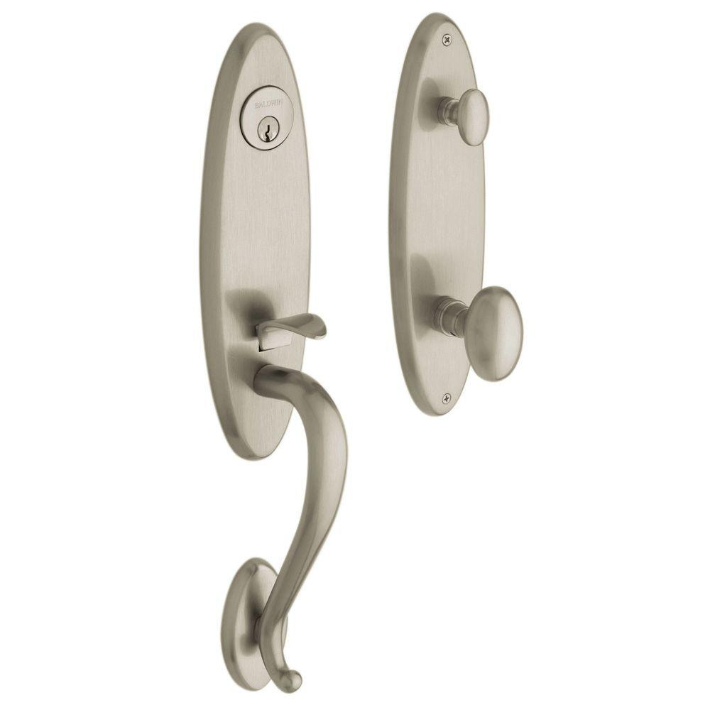 Estate Collection Blakely Single Cylinder Satin Nickel Handleset with Knob